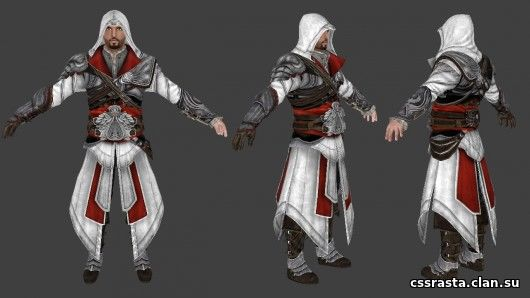 Скин админа Ezio from Assassin's Creed Brotherhood CS:GO Скачать